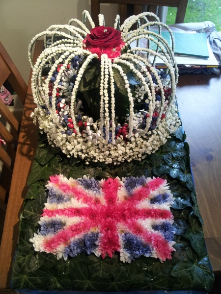 Competition piece - Crown Jewels in flowers