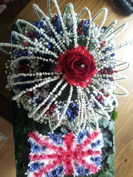 Competition piece - Crown Jewels in flowers - top view