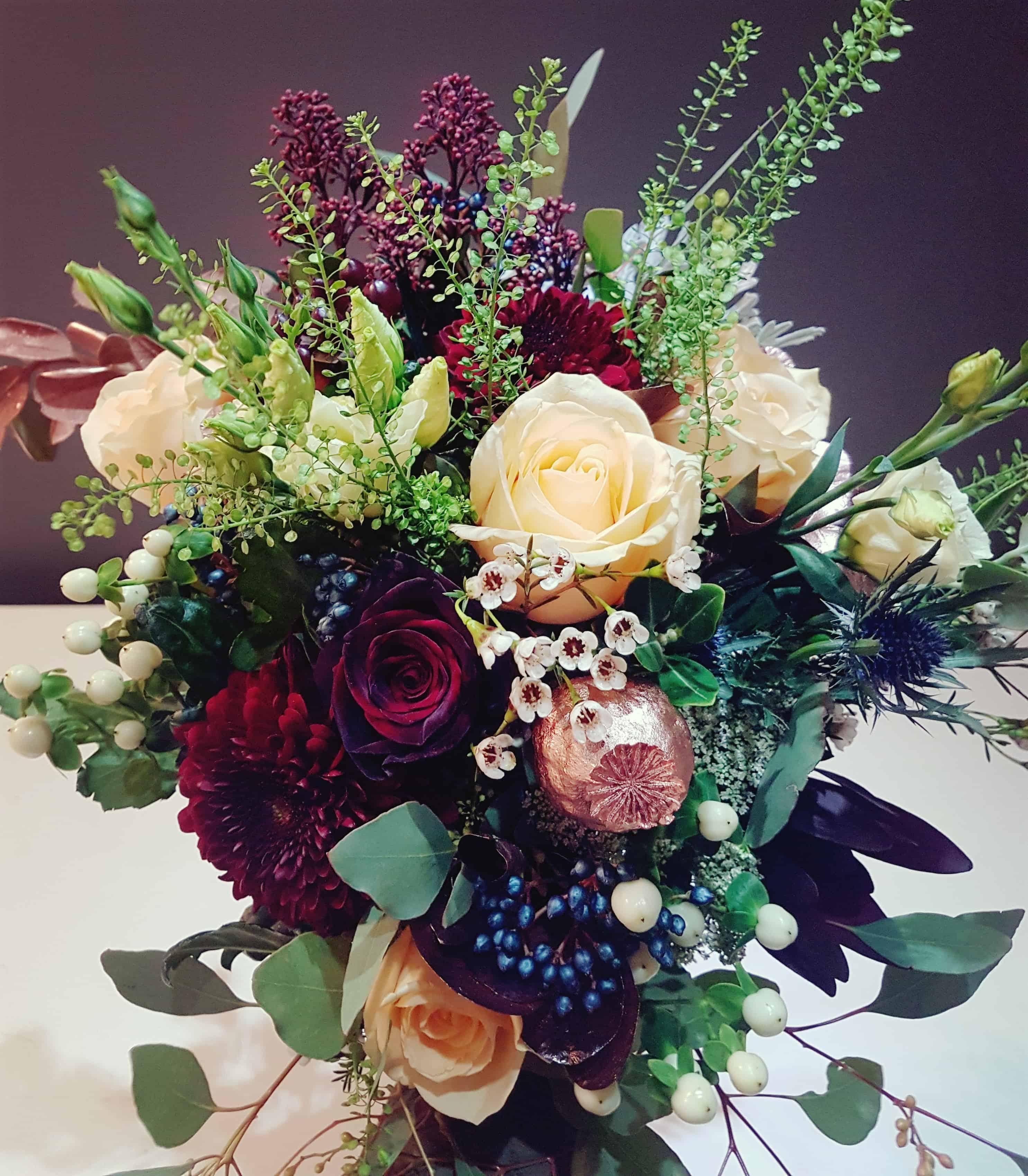 Brides Bouquet - stunning colours