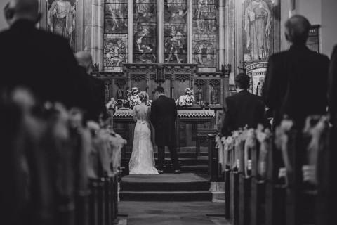 Black and white - wedding ceremony
