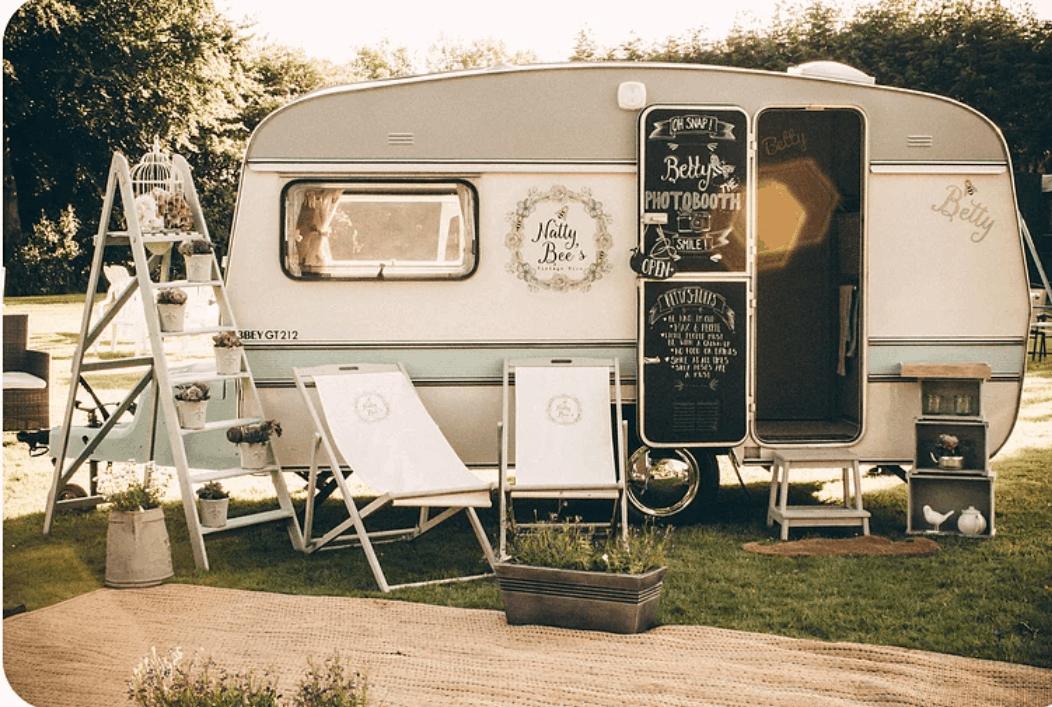 Natty Bee's Vintage Caravan Photo Booth