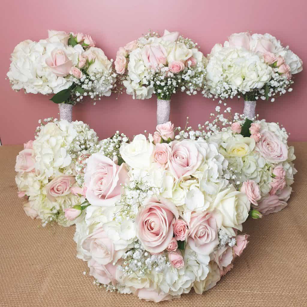 Brides Bouquet and 5 Bridesmaid bouquets