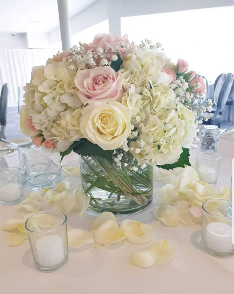 Table Centrepieces - lower display to offset against the tall displays